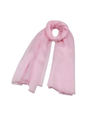 Made in Silk Jedwabny szal w kolorze jasnoróżowym - (D)180 x (S)90 cm