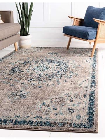 """Nazar Laagpolig tapijt """"Anatolia"""" blauw/beige"""