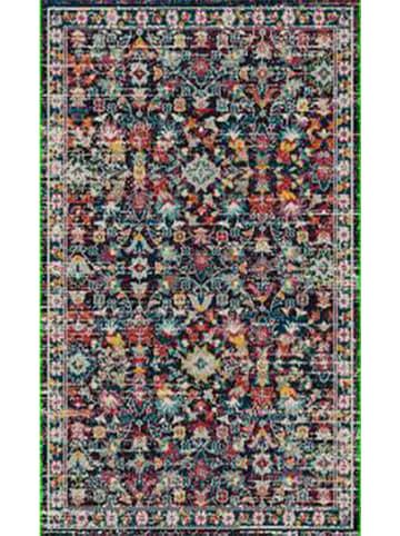 "Nazar Laagpolig tapijt ""Anatolia"" blauw/meerkleurig"