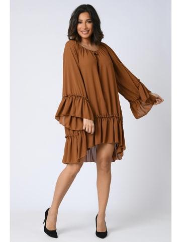 """Plus Size Company Sukienka """"Mael"""" w kolorze jasnobrązowym"""
