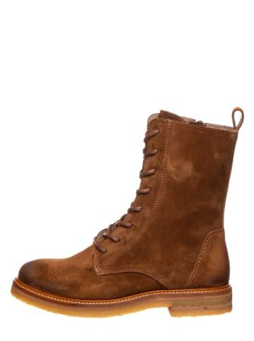 """Marc O'Polo Shoes Leren boots """"Brenda 1A"""" bruin"""