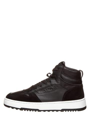 """Marc O'Polo Shoes Leren sneakers """"Carla 2A"""" zwart"""