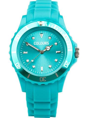 Colours Zegarek kwarcowy w kolorze turkusowym