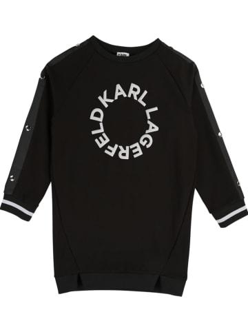 Karl Lagerfeld Kids Sweatkleid in Schwarz