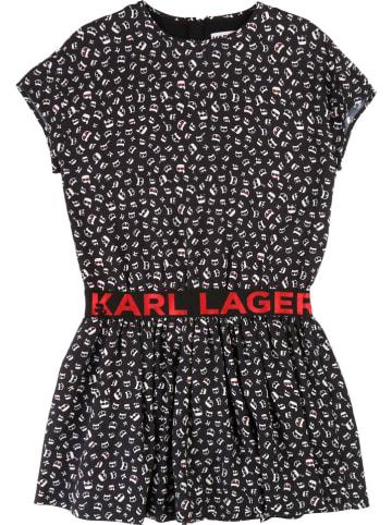 Karl Lagerfeld Kids Jurk zwart/wit