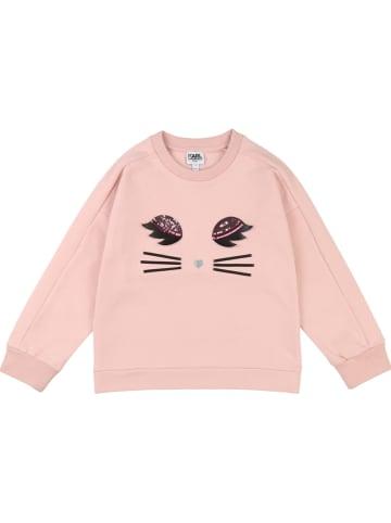 Karl Lagerfeld Kids Sweatshirt lichtroze