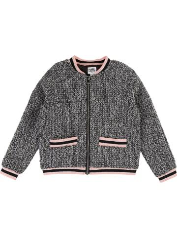 Karl Lagerfeld Kids Vest zwart/wit