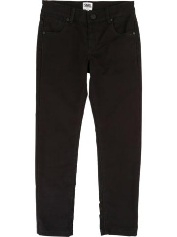 Karl Lagerfeld Kids Spodnie w kolorze czarnym