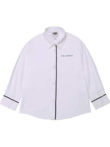 Karl Lagerfeld Kids Koszula w kolorze białym