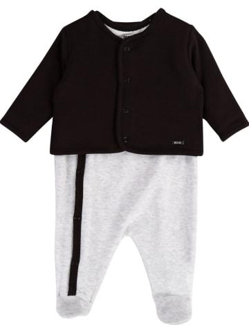 Karl Lagerfeld Kids 2-częściowy zestaw w kolorze czarno-jasnoszarym