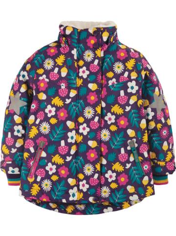 """Frugi Kurtka narciarska """"Wilderness"""" w kolorze fioletowym ze wzorem"""