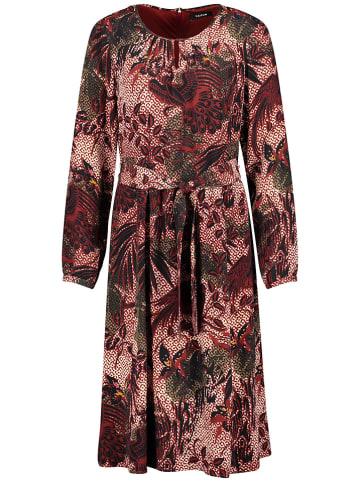 TAIFUN Sukienka w kolorze bordowo-czarnym