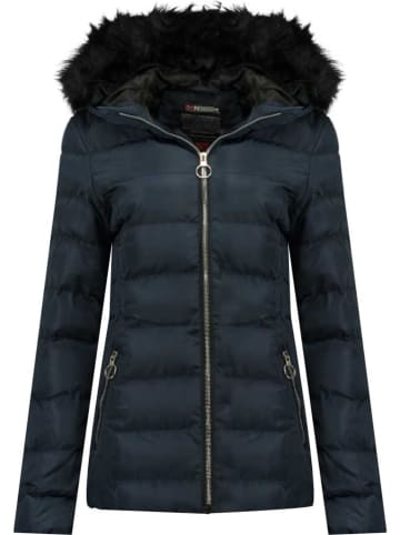 """Geographical Norway Winterjas """"Angely"""" donkerblauw"""
