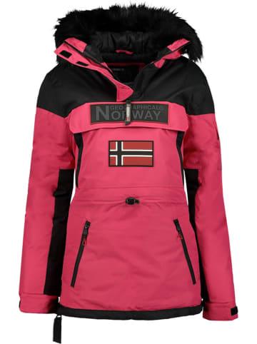"""Geographical Norway Kurtka zimowa """"Bruna"""" w kolorze różowym"""