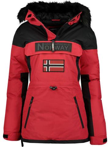 """Geographical Norway Kurtka zimowa """"Bruna"""" w kolorze czerwonym"""