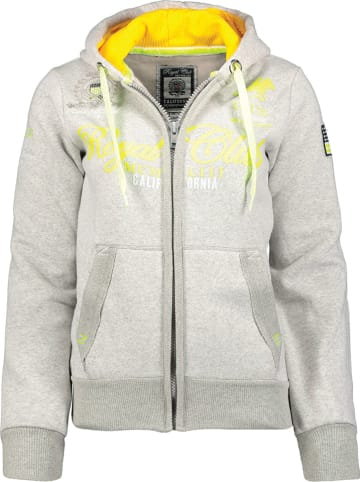 """Geographical Norway Sweatvest """"Fanille"""" grijs"""