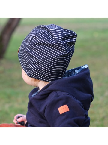 "LiVi Beanie ""Stripes"" in Dunkelblau"