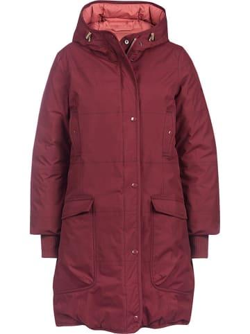 """Finside Dwustronny płaszcz zimowy """"Smilla"""" w kolorze bordowo-łososiowym"""