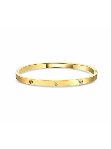 Diamond Style Pozłacana bransoletka z kryształami