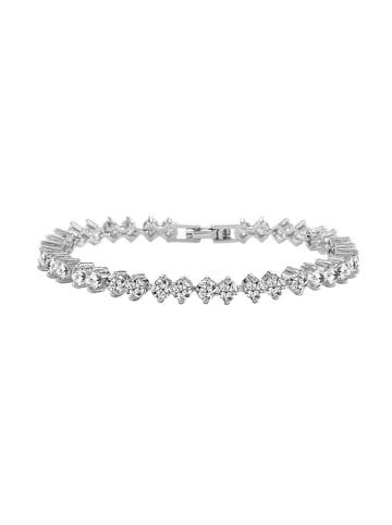 Diamond Style Armband met edelstenen zilverkleurig
