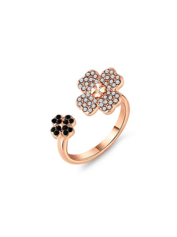 Diamond Style Rosevergold. Ring mit Edelsteinen