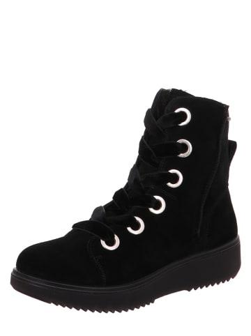 """Legero Leren sneakers """"Camino"""" zwart"""