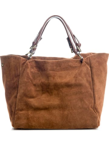 """Lucca Baldi Skórzany shopper bag """"Gimignano"""" w kolorze brązowym - 45 x 50 x 20 cm"""