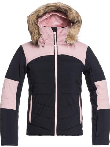 """Roxy Kurtka narciarska """"Bamba"""" w kolorze antracytowo-jasnoróżowym"""
