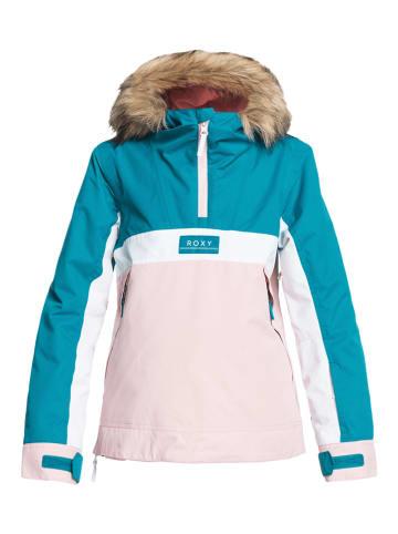 """Roxy Ski-/ Snowboardjacke """"Shelter"""" in Rosa/ Türkis"""