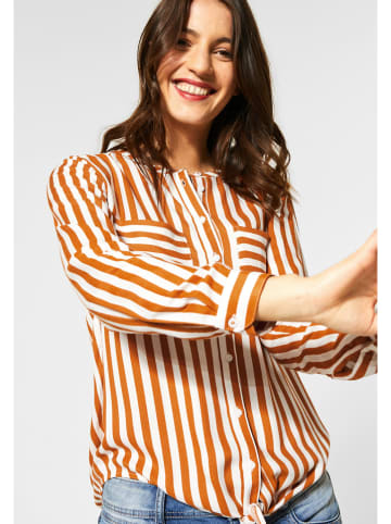 Street One Blouse wit/oranje