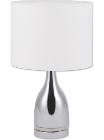 "Näve Tafellamp ""Cosima"" wit/zilverkleurig - (H)43,5 x Ø 26 cm"