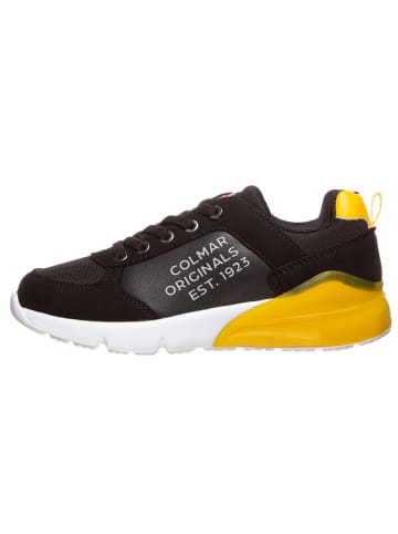 """COLMAR Sneakersy """"Travis Dude"""" w kolorze czarno-żółtym"""