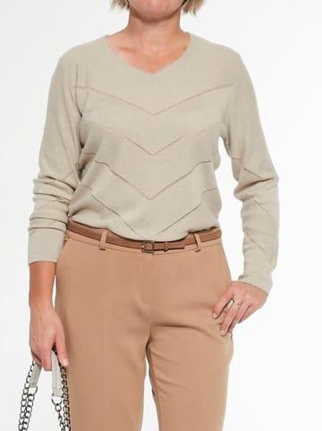 Olimpia Sweter w kolorze beżowym