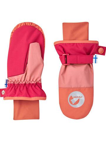 """Finkid Rękawiczki """"Kirjava"""" w kolorze łososiowym-różowym"""