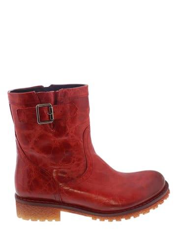 Lazamani Leren boots rood