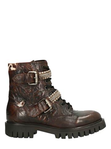 Lazamani Leder-Boots in Braun