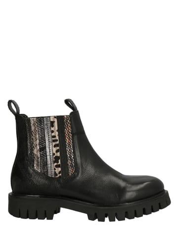 Lazamani Leder-Chelsea-Boots in Schwarz