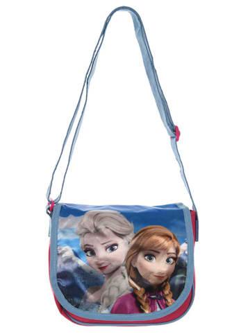 """Disney Frozen Torebka """"Frozen"""" w kolorze niebiesko-różowym - 20 x 16 x 6 cm"""