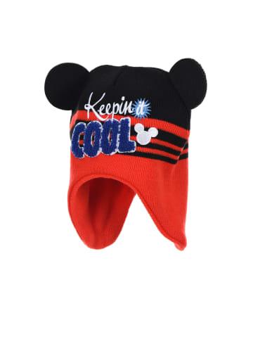 """Disney Mickey Mouse Czapka """"Mickey Mouse"""" w kolorze czarno-czerwonym"""