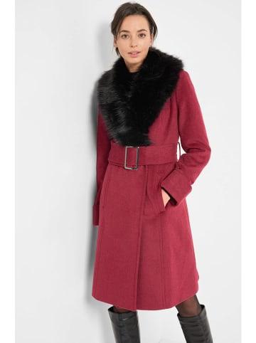 Orsay Płaszcz przejściowy w kolorze bordowym