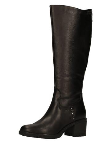 Tamaris Leren laarzen zwart