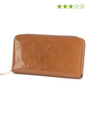 Louis Vuitton Skórzany portfel w kolorze jasnobrązowym - 19,5 x 10 x 2,5 cm