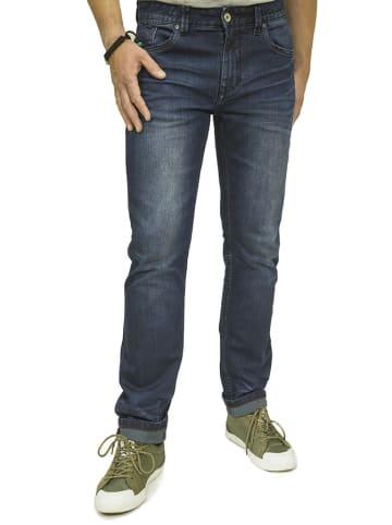 Scotfree Spodnie w kolorze granatowym