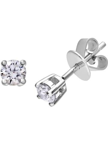 Diamant Exquis Złote kolczyki-wkrętki z diamentami