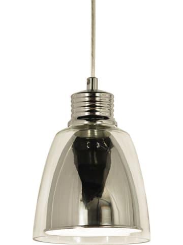 """Aneta Lampa wisząca LED """"Bay"""" w kolorze srebrnym - wys. 21,5 x Ø 14 cm"""