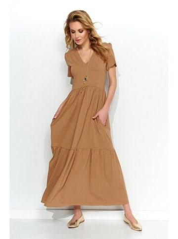 Makadamia Sukienka w kolorze jasnobrązowym
