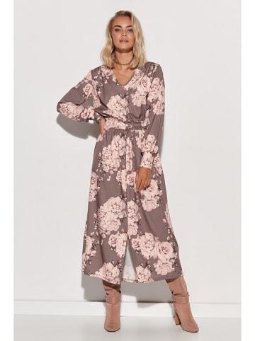 Makadamia Kleid in Beige/ Pink