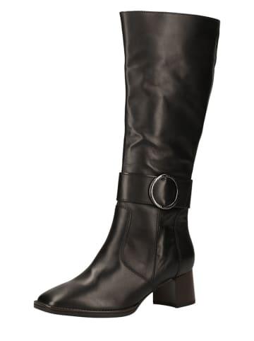 Ara Shoes Leder-Stiefel in Schwarz