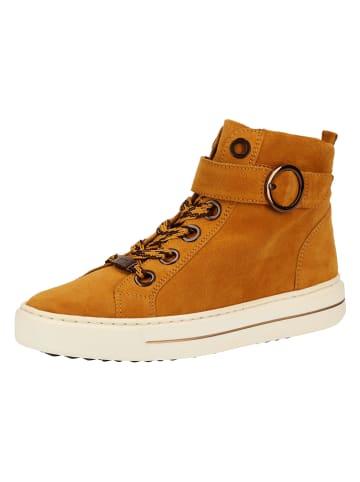 Ara Shoes Leder-Boots in Hellbraun