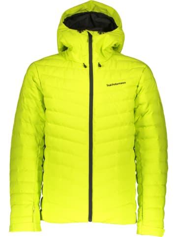 """Peak Performance Puchowa kurtka narciarska """"Frost"""" w kolorze jaskrawozielonym"""